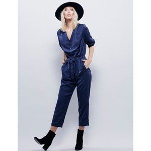 Free People Bromier One Piece Jumpsuit Small Blue